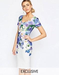 Платье-футляр с цветочным принтом и рельефной отделкой Hope and Ivy - Мульти