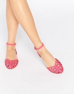 Туфли с заклепками ASOS JACQUI - Розовый