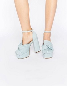 Туфли на платформе ASOS PUPPET SHOW - Синий