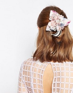 Украшение для волос и брошь с цветами ASOS - Мульти