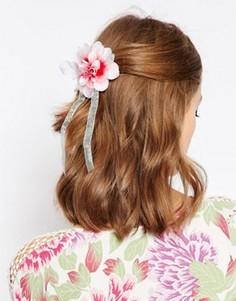 Украшение для волос и брошь с цветком ASOS - Розовый