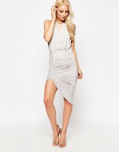Асимметричное платье Sistaglam Cheryl - Серый
