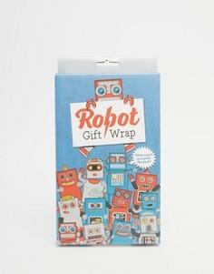 Подарочная упаковочная бумага с роботами Luckies - Мульти Gifts