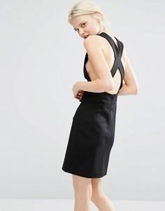 Облегающее платье с открытой спиной Weekday - Черный