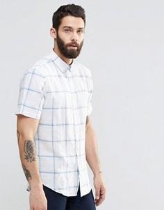 Рубашка слим в клетку с короткими рукавами Farah - Белый