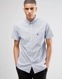Оксфордская рубашка с короткими рукавами Selected Homme - Темно-синий