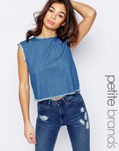 Укороченный джинсовый топ Waven Petite Tini - Синий