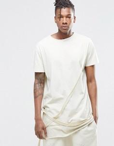 Удлиненная футболка с ремешками Granted - Stone