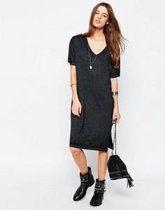 Повседневное платье‑майка с выжженным принтом ASOS - Серый