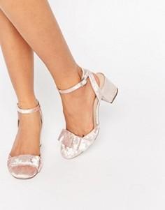 Туфли на каблуке с бантиками ASOS SPREE - Розовый