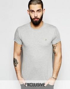 Серая облегающая футболка Farah Farris - Серый