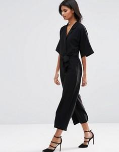 Комбинезон с рукавами-кимоно ASOS - Черный