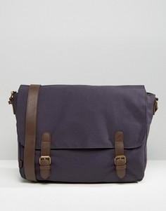 Темно-синий портфель с контрастными ремешками ASOS - Синий