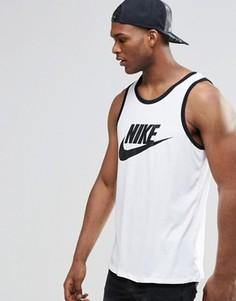 Белая майка с логотипом Nike 779234-100 - Белый