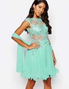 Кружевное платье для выпускного Forever Unique - Зеленый
