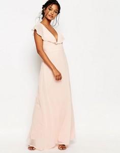 Платье макси с рукавами‑кимоно Boohoo - Розовый