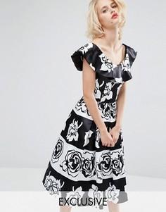 Платье миди для выпускного Horrockses Gabriella - Мульти