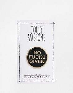 Эмалированный значок Jolly Awesome Attitude - Мульти