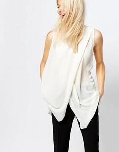 Блузка без рукавов с разрезом спереди Monki - Белый