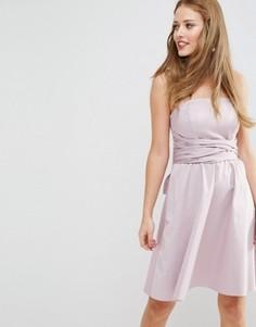 Структурированное платье мини с бантиком ASOS WEDDING - Фиолетовый