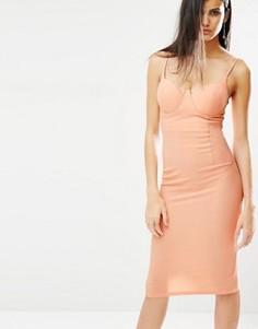 Облегающее платье на бретельках Missguided - Розовый