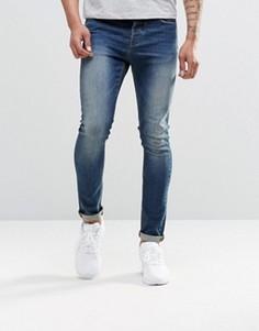 Синие джинсы скинни из денима плотностью 12,5 унций ASOS - Синий