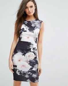 Платье-футляр с цветочным принтом Lipsy - Мульти