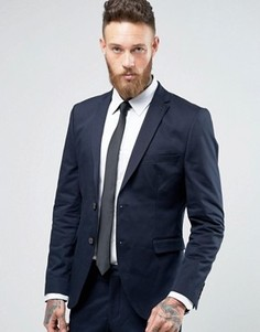 Пиджак слим Selected Homme - Темно-синий