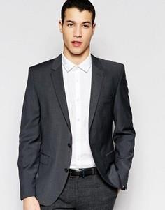 Темно-серый пиджак узкого кроя из шерстяной смеси Selected Homme - Серый