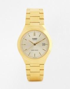 Золотистые часы с ремешком из нержавеющей стали Casio MTP1170N-9A - Золотой