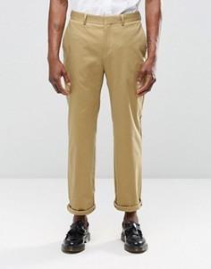 Бежевые укороченные брюки прямого кроя Religion - Бежевый