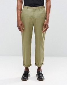 Укороченные брюки цвета хаки с прямыми штанинами Religion - Зеленый