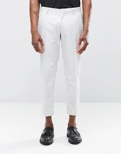 Укороченные строгие светло-серые брюки скинни Religion - Серый
