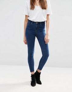 Синие укороченные джинсы скинни с завышенной талией ASOS Ridley - Синий