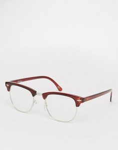 Очки в стиле ретро с прозрачными стеклами Jeepers Peepers - Коричневый