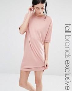 Трикотажное платье с рукавами до локтя One Day Tall - Розовый