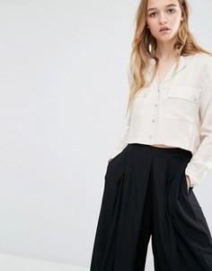 Укороченная блузка Neon Rose - Бежевый