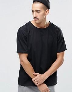 Черная джинсовая футболка прямого кроя Weekday Zephyr - Черный