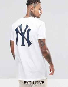 Длинная футболка Majestic New York Yankees эксклюзивно для ASOS - Белый