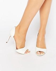 Белые кожаные туфли-лодочки с вырезами Ted Baker Caawmi - Белый