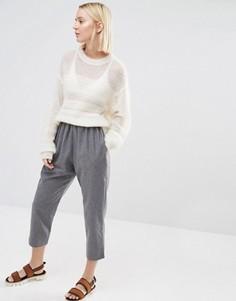 Укороченные брюки с добавлением шерсти Paisie - Серый