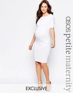 Платье для беременных с укороченными рукавами ASOS Maternity PETITE - Белый