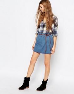 Синяя мини-юбка Vanessa Bruno Athe - Синий