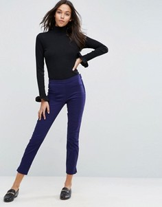 Зауженные брюки-сигареты в стиле casual ASOS - Синий