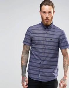 Рубашка в полоску с короткими рукавами и пуговицами Lee - Темно-синий