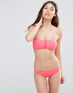 Купальник-бандо бикини с молнией Goddiva - Розовый