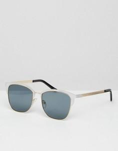 Серебристые солнцезащитные очки в стиле ретро ASOS - Серебряный