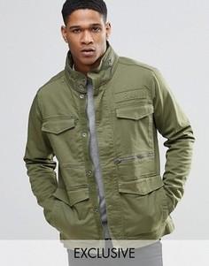Стретчевая саржевая куртка в стиле милитари Only & Sons Field-A - Зеленый G Star