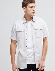 Джинсовая рубашка с короткими рукавами G-Star Landoh - Серый