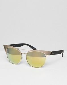 Зеркальные солнцезащитные очки кошачий глаз Quay Australia Zig - Золотой